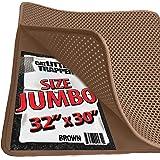 "Jumbo Size Cat Litter Trapper by iPrimio - Litter Mat, EZ Clean Cat Mat, Litter Box Mat Water Proof Layer and Puppy Pad Option. Patent Pending. (32""x30""Jumbo)"