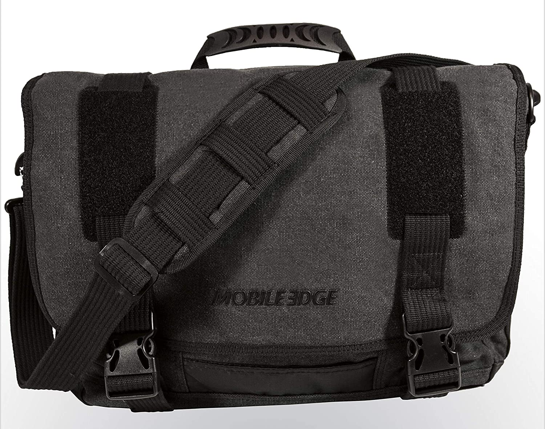 Mobile Edge Laptop Eco Messenger Eco-Friendly, 17.3 Inch Cotton Canvas, Charcoal for Men, Women, Business, Student MECME5, Ash