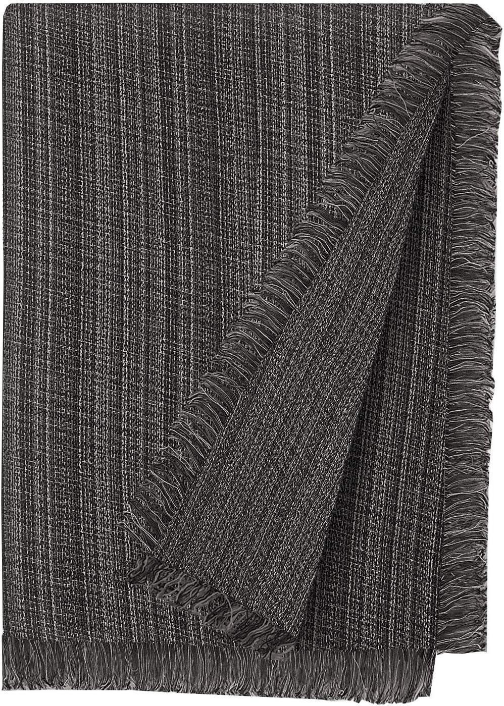 Martina Home Jaspe Foulard Multiusos, Tela, Negro, 230 x 260 cm