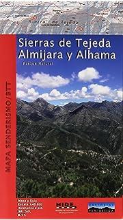 Mapa Sierras de Tejeda, Almijara y Alhama. Excursionista. Escala 1:40.000.