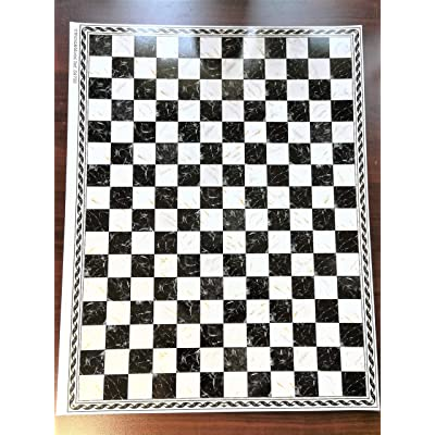 World Model Dollhouse Miniature Black & White Marbled Square Checked Tile Flooring 1:12 Scale: Toys & Games