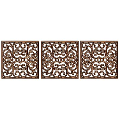 BIRDROCK HOME 15 x 15 Rubber Stepping Stones Tile - Copper - Set of 3 - Decorative Garden Mats - Sturdy Durable Steps - Perfect for Gardens Path, Flowerbed, Gravel, Dirt, Grass : Garden & Outdoor