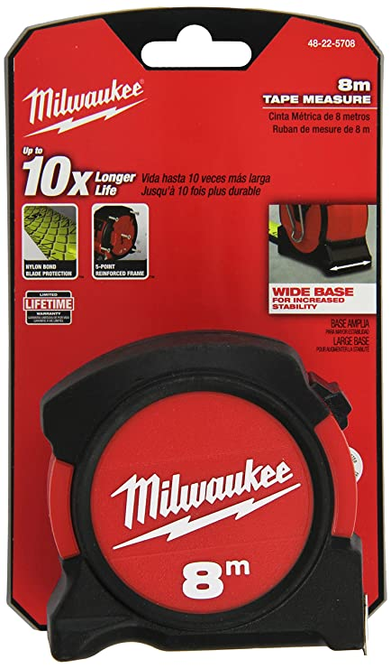 Milwaukee 48-22-5708 8M General Contactor Tape Measure - - Amazon.com