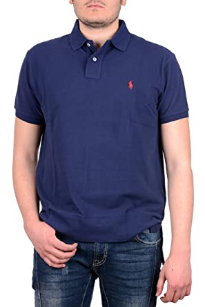 Polo Ralph Lauren Men Custom Fit Pony Logo T-Shirt (M, Newport Navy