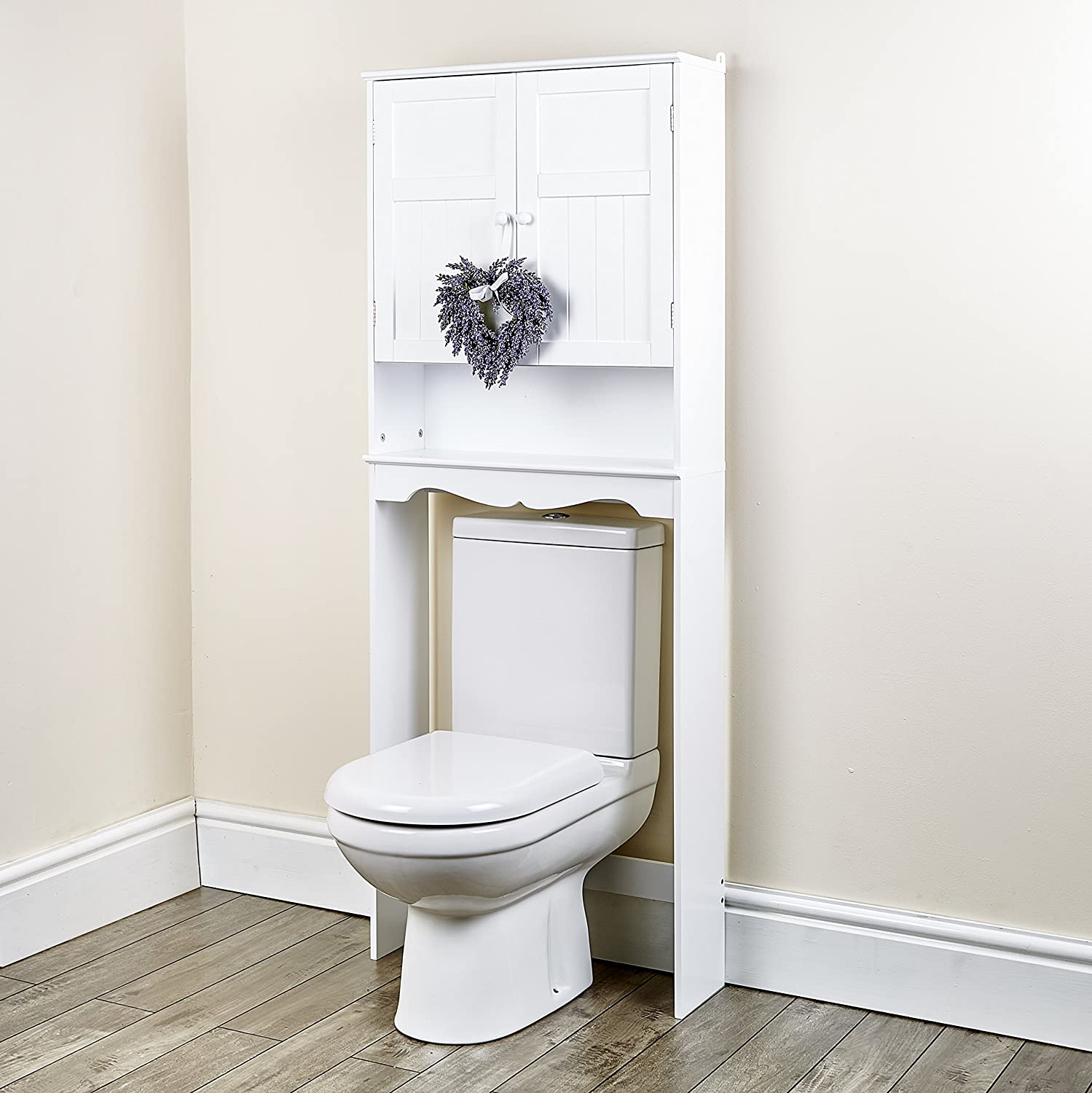 Abreo New White Space Saver Over Toilet Cabinet Bathroom Furniture ...