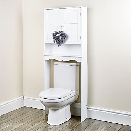 New White Space Saver Over Toilet Cabinet Bathroom Furniture ...