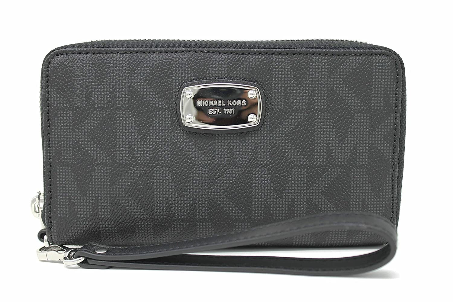 cd8d5f26cc9e Michael Kors Jet Set Item Large Flat Multifunction Phone Wristlet Case Black  35H5SJSZ3B ...