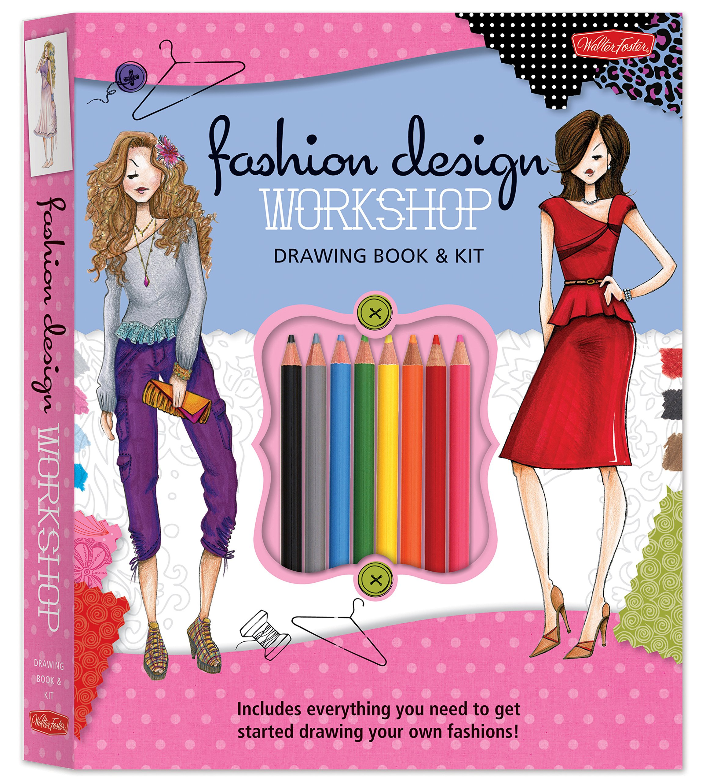 Fashion Design Workshop Drawing Book & Kit: Includes everything you need to get started drawing your own fashions! (Walter Foster Studio)