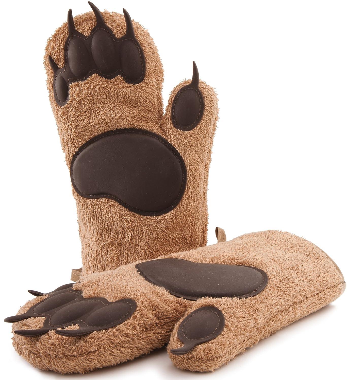 Gants de four de marque, modèle 2017, long, gants de pot, gants de cuisson, gants de cuisine, 1 paire 3-spirits