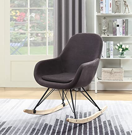 Merveilleux Living Express Modern Indoor Rocking Chair,Deep Padding Seating,Upholstered, Accent Armchair With