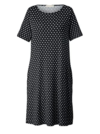82a4cfe521a50c Janet & Joyce Damen Jersey-Kleid mit Allover-Print Schwarz: Amazon ...