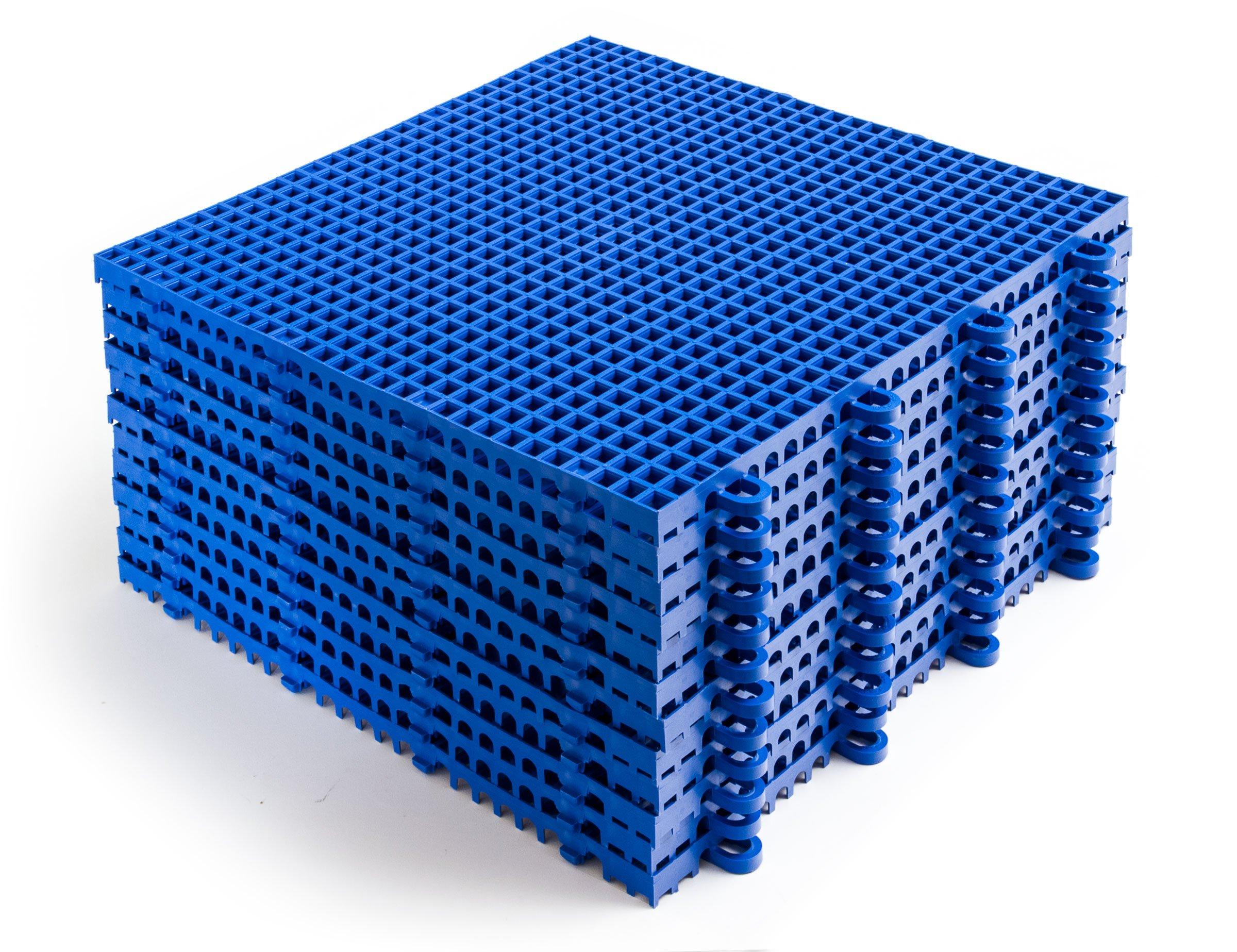 DuraGrid STBRIK Comfort Interlocking Modular Multi-Use Safety Floor Matting, Single Tile, Brick Red by DuraGrid® (Image #5)