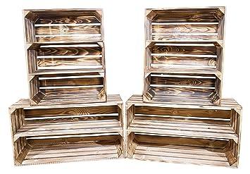 Vinterior Diy Set 4 Kisten Gemischtes Paket Flambierte Holzkisten