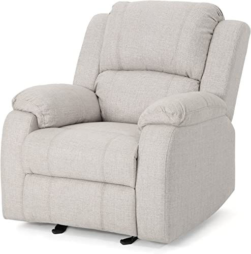 Christopher Knight Home Michelle Gliding Recliner, Beige Black