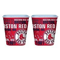 Set of 2 Boston Red Sox 3 Liter Reusable Plastic Snack Buckets!