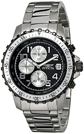 Invicta Men s 6000 Pilot Collection Stainless Steel Chronograph Watch e1f7949c1