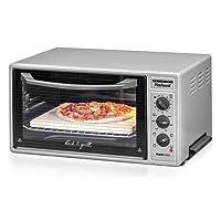 ROMMELSBACHER BG 1600 PizzAvanti Minibackofen mit leistungsstarker Grillfunktion/40 Liter/CLEANemail Beschichtung/Timer/Innenbeleuchtung/Pizzaofen/1600 W/anthrazit