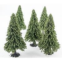 Pack de 5 Sapins de Noël (93 mm) par WWS – Paysage miniature, Terrain, Décor, Modélisme Ferroviaire – Echelle 00