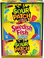 Sour Patch Kids & Swedish Fish Soft & Chewy Candy Variety