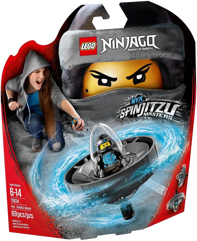 LEGO- Ninjago Nya: Maestra del Spinjitzu, Color plateado (70634L)