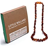 Amber Teething Necklace By Little Willard (Bourbon Raw)