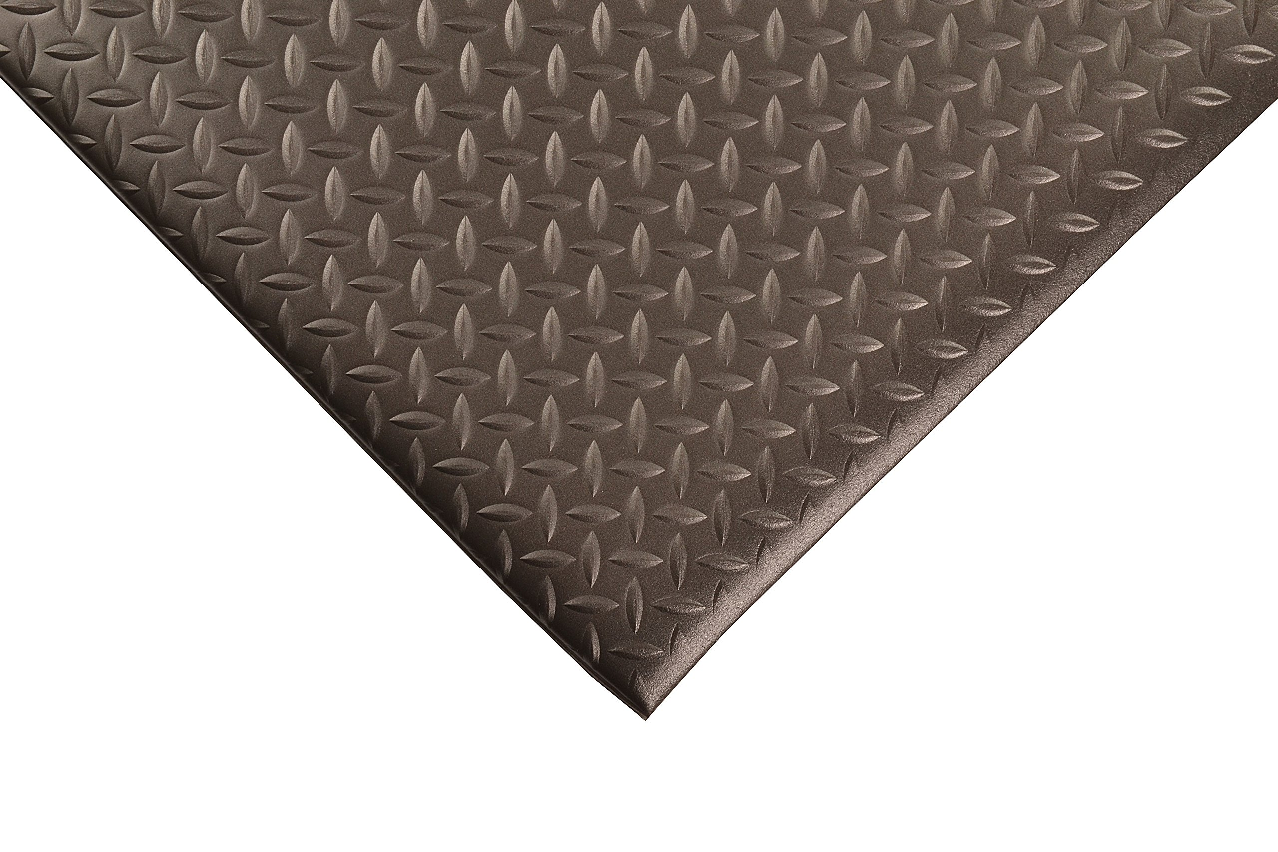 NoTrax 419 Diamond Sof-Tred Safety/Anti-Fatigue Mat with Dyna-Shield PVC Sponge, for Dry Areas, 2' Width x 6' Length x 1/2'' Thickness, Black