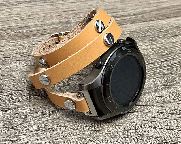 Amazon.com: Tan Color Genuine Leather Bracelet For Huawei ...