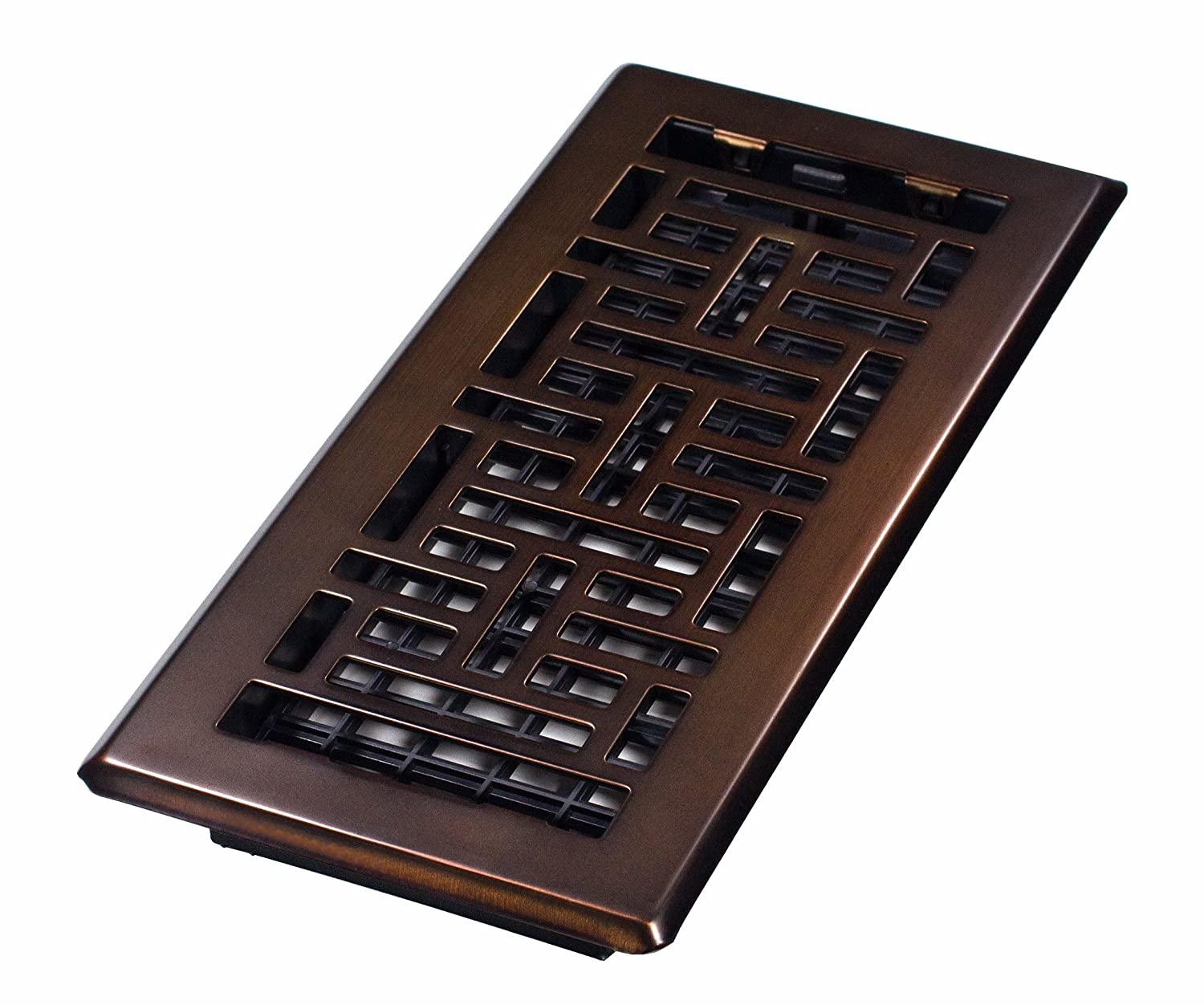 Decor Grates AJH410 RB Oriental Floor Register, Rubbed Bronze, 4 Inch By