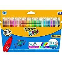 BIC Kids Kid Couleur rotuladores punta media - colores Surtidos, Caja de 24 unidades