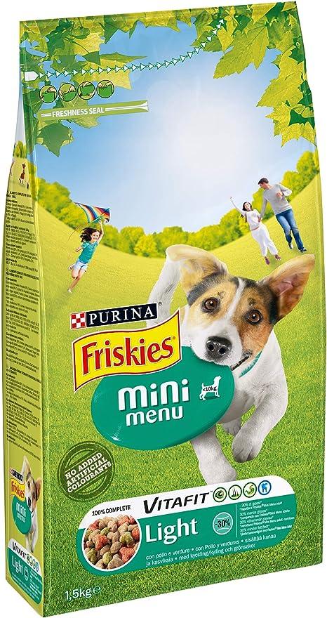 Friskies vitafit Light Mini Menu pienso para el perro, 6 x 1.5 kg: Amazon.es: Productos para mascotas