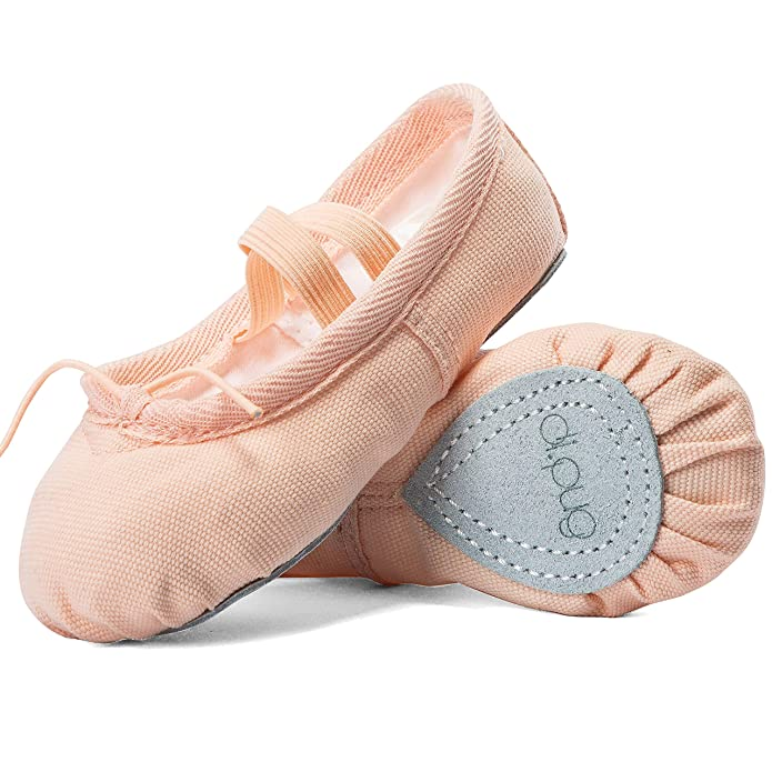 Ballet Shoes Ballet Slippers for Girls Toddlers Canvas Dance Shoes Yoga Shoe (Toddler/Little Kid/Big Kid/Women) (US 2M Little Kid, Ballet Pink)