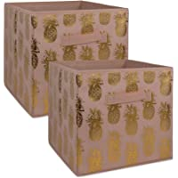 DII Foldable Fabric Storage Containers for Cube Organizers, Toys, Cloths Or Knick Knacks (Set)