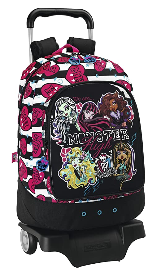 Monster High Mochila con ruedas, 46 cm (Safta 611443160)