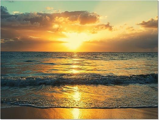 Amazon Com Designart Pt10867 20 12 Exotic Water And Sky Sunset Panorama Modern Seashore Canvas Art 20x12 12 H X 20 W X 1 D 1p Wall Art