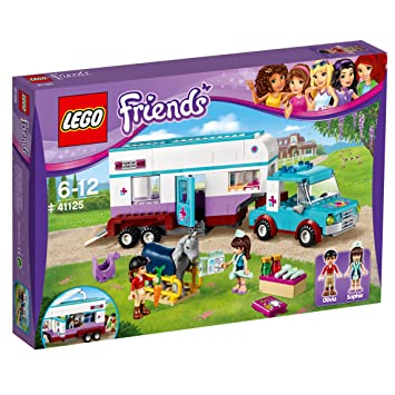Lego 41125 Friends Horse Vet Trailer Amazon Co Uk Toys Games