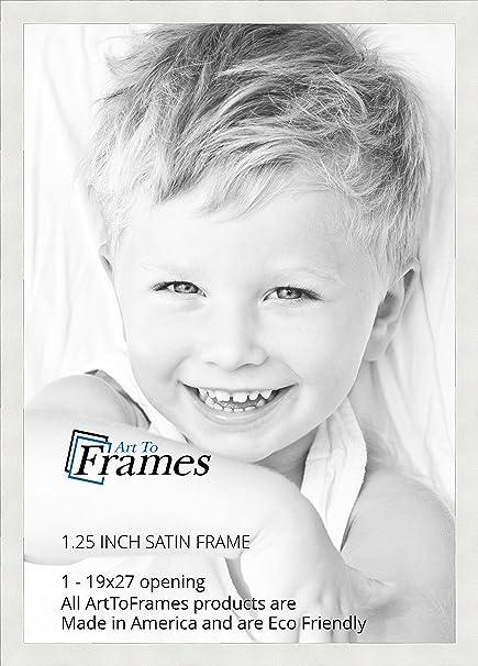 amazoncom arttoframes 19x27 inch satin white frame picture frame 2womfrbw26074 19x27 single frames