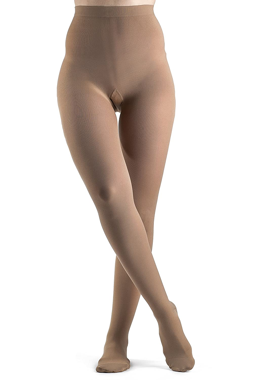 Sigvaris Soft Opaque 841PMSW35 15-20mmHg Closed Toe, Pantyhose Medium Short Women, Nude by Sigvaris B004K5HVR6
