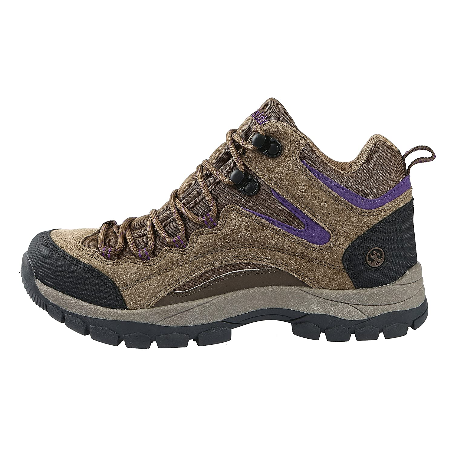Northside Womens Pioneer Mid Rise Leather Hiking Boot B00I5G35JO 7 B(M) US|Medium Brown/Dark Purple