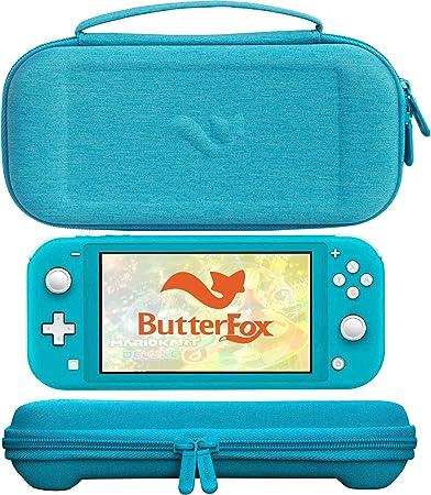 ButterFox Premium - Funda Fina para Nintendo Switch Lite con 19 Juegos y 2 Soportes para Tarjetas Micro SD, Almacenamiento para Accesorios Switch Lite, Color Azul Turquesa: Amazon.es: Electrónica