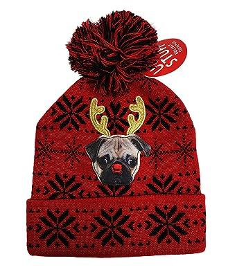 Festive Holiday Reindeer Pug Dog Embellished Winter Ugly Christmas ... 865763e7f