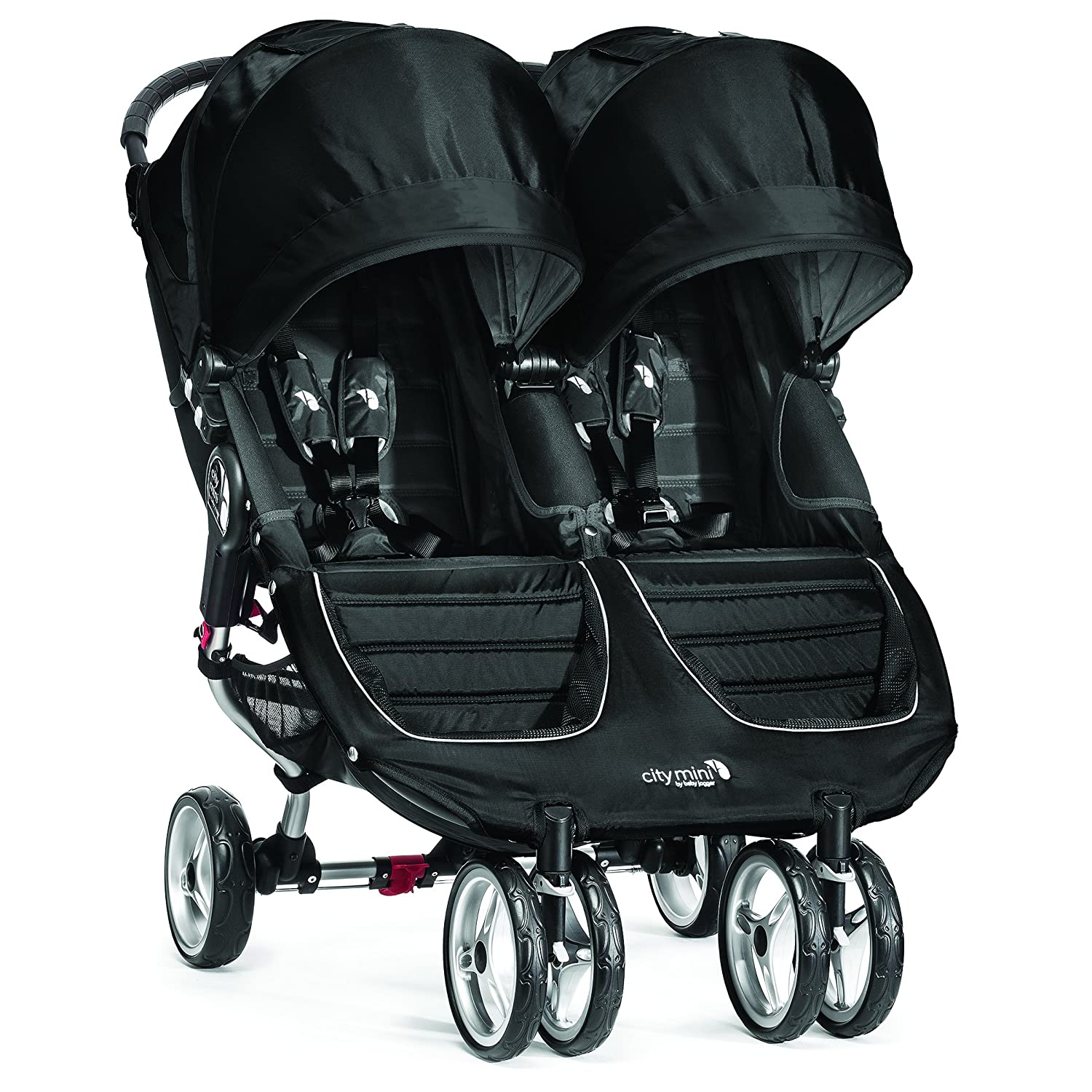 Baby Jogger City Mini Double Stroller – 2016 Compact, Lightweight Double Stroller Quick Fold Baby Stroller, Black Gray