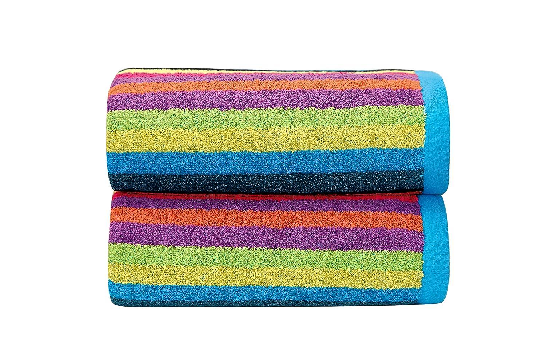 Sorema Rainbow - Toalla para lavabo, de algodón, 50 x 100 cm: Amazon.es: Hogar