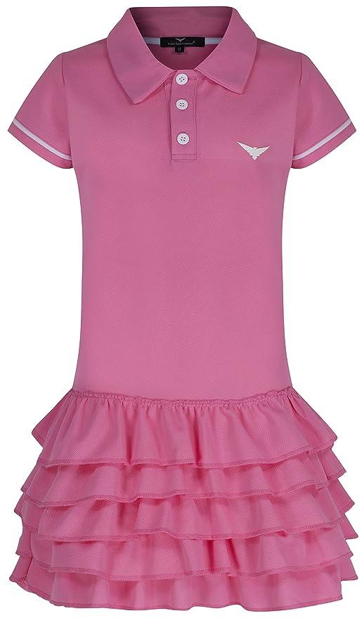 Niñas vestido de tenis, color rosa con volantes vestido de tenis ...