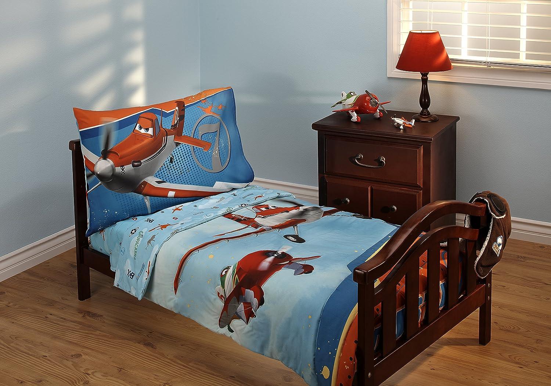 Disney Planes Let's Soar 4 Piece Toddler Bedding Set by Disney   B00JH0OL36