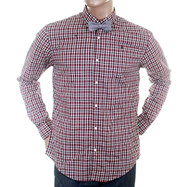 3a4d0b951d2 Image Unavailable. Image not available for. Colour: Scotch & Soda mens  wine check 1204 08 20009 button down collar shirt SCOT1729