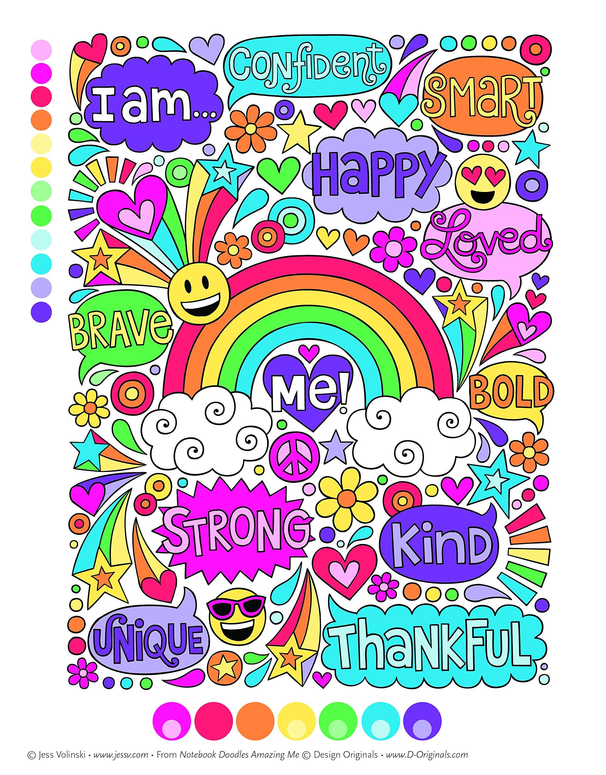 Notebook Doodles Amazing Me Coloring Activity Book Jess Volinski 9781497203396 Amazon Books
