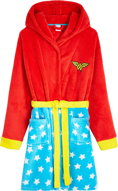 S-XL Idea Regalo Originale Caldo Abbigliamento Invernale Wonderwoman Vestaglie in Morbido Pile con Cappuccio DC Comics Wonder Woman Vestaglia Donna