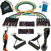 InnoTi Elastische Weerstandsbanden voor Bodybuilding en Fitness - Oefenbanden voor Homegym - Latex Weerstandsbuisen Set…