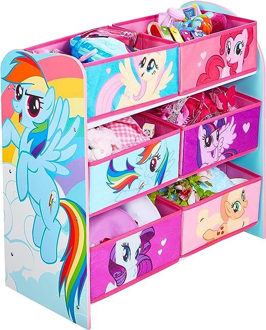 2 Unidades 39.50x59.50x39.50 cm My Little Pony 474MPY Juguetero Rosa Madera