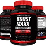 BoostMAXX Male Enhancement Pills | Enhancing Libido, Drive, Performance, Boost Testosterone | Horny Goat Weed Yohimbe Maca 60 Pills Herbal Supplement | Arazo Nutrition